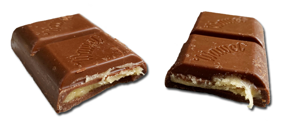 Advocat bar pieces with filling coming out