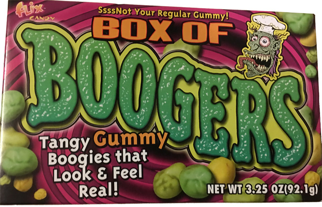 """""""Box of Boogers"""". Need I say more?"""