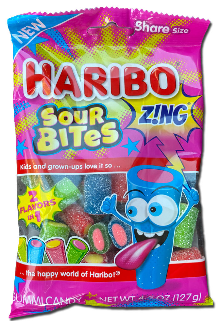 Haribo Sour Bits Zing! package