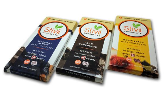 Stivii Chocolate Bars: White Peach Dark Chocolate