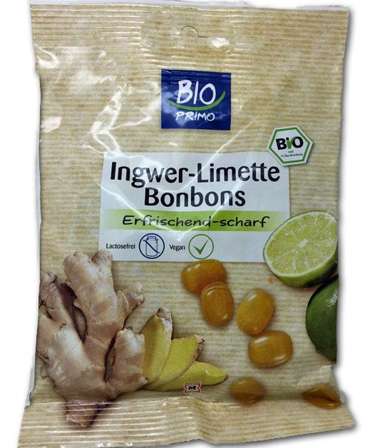 Bio Primo Ingwer-Limette Bonbons