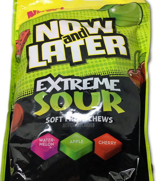 Now & Later Extreme Sour Soft Fruit Chews