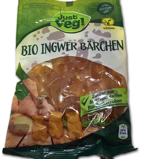 Bio Ingwer Barchen: Vegetarian ginger gummy bears