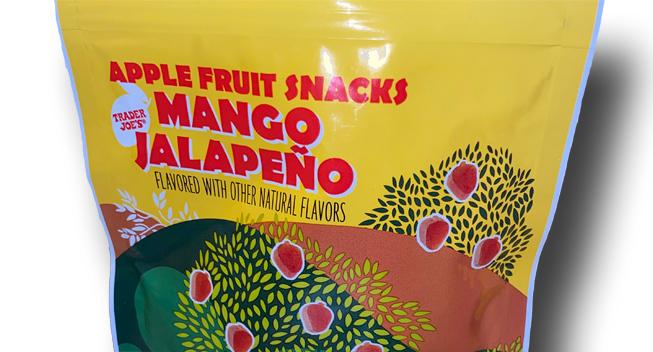 Trader Joe's Mango Jalapeño Apple Fruit Snacks package