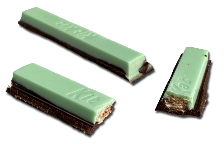 Kit Kat Dark Chocolate + Mint candy bars