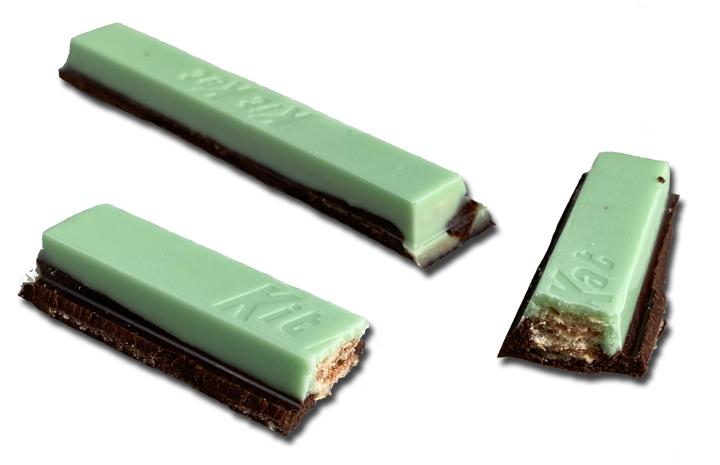 Kit Kat Dark Chocolate + Mint candy bars