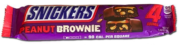 Snickers peanut brownie bar package