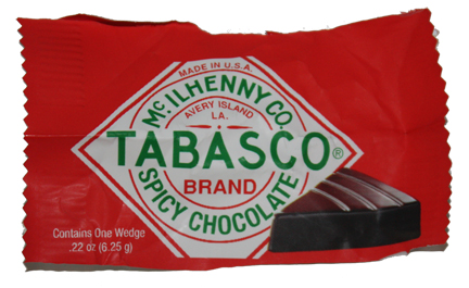 Tobasco Spicy Chocolate package