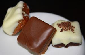 Take classic caramels.  Now shake 'em up.  Keep shaking.  Now eat.