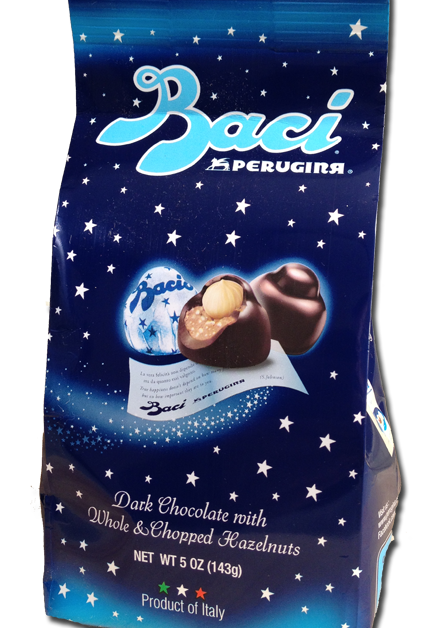 Baci means Kiss in Italian. Maybe should mean French Kiss.