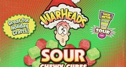 Holiday Candy Video Reviews 1 of 3: Warheads Sour Chewy Cubes