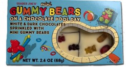 Mini Gummy Bears on a Chocolate Pool Day