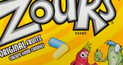 Zours -Get it? They're SOUR! But they spell it with a Z, it's fucking INSANITY!!!