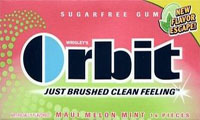 Orbit's Maui Melon Mint Gum. And it's melon becaauuuse…