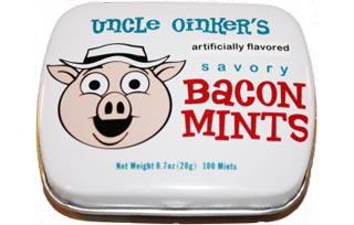 Uncle Oinker's Savory Bacon Mints: Um. Oinkaaay…