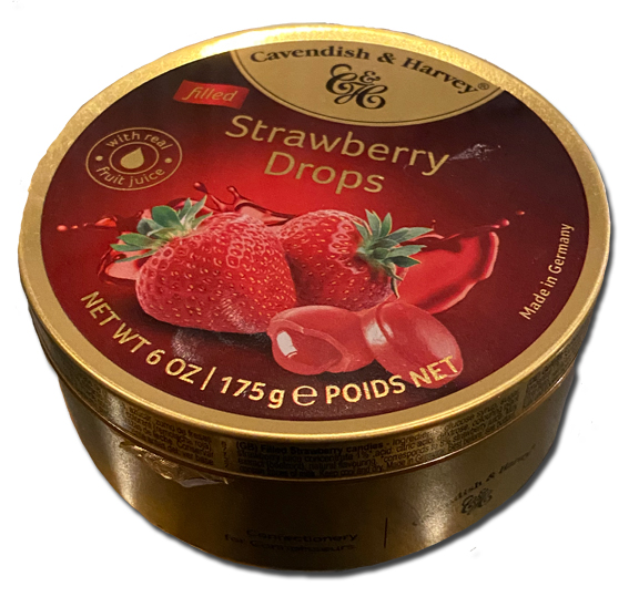 Cavendish & Harvey Strawberry Drops tin