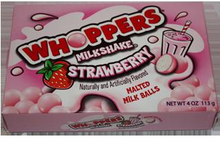 Whoppers Milkshake Strawberry Malt Balls: Where's the Quik yo?!